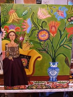 In the studio What I am working on.............., painting by artist Catherine Nolin