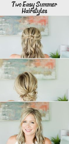 Two EASY Summer Hairstyles // by Kate Bryan at the Small Things Blog #summerhairstylesScrunchies #Longsummerhairstyles #Heatlesssummerhairstyles #summerhairstylesHalfUp #Casualsummerhairstyles