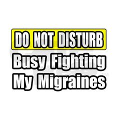 """Busy Fighting My Migraines"" Tile Coaster on CafePress.com"