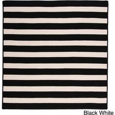Colonial Mills Striped Out Indoor/ Outdoor Area Rug ($206) ❤ liked on Polyvore featuring home, rugs, black, black and white area rugs, black and white striped rug, black white rug, outdoor rugs and black area rugs