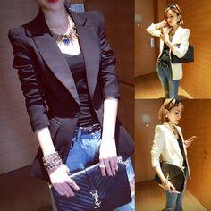 2014 spring women's slim long-sleeve top one button  elegant female  wholesale women blazers blaser Didiar Young fashion Lady US $24.12