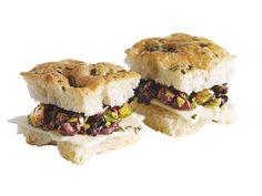 Olive-Focaccia Tea Sandwich Recipe : Food Network Kitchens : Food Network - FoodNetwork.com