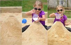 Experimente für Kinder mit Sand im Freien