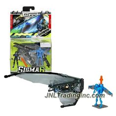 """Hasbro GI JOE Sigma 6 Mission Manual Series 2-1/2"""" Tall Figure - SILENT ENTRY with DUKE, Glider & Cobra SKY B.A.T. v7 with Missile Launcher Backpack"""