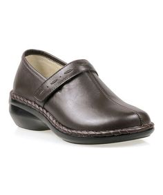Another great find on #zulily! Bronco Brown Catalina Leather Slip-On Shoe by Propét #zulilyfinds