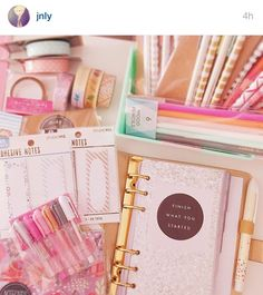cute planner supplies @jnly on IG