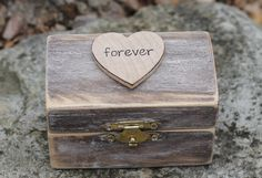 Wedding Ring Box Personalized Forever Rustic by MichelesCottage, $25.50