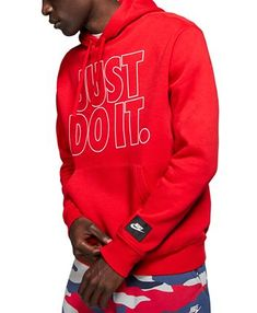Nike Men's Sportswear Just Do It Hoodie - Nike Clothes Mens, Nike Hoodie, Nike Outfits, Boys Shirts, Baby Clothes Shops, Trendy Plus Size, Hoodie Jacket, Just Do It, Mens Sweatshirts