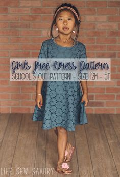 free dress sewing pattern for Girls Life Sew Savory Baby Dress Patterns Dress Free Girls Life Pattern Savory Sew Sewing Toddler Sewing Patterns, Baby Dress Patterns, Pattern Sewing, Baby Dress Pattern Free, Skirt Patterns, Coat Patterns, Pattern Drafting, Blouse Patterns, Tshirt Dress Pattern