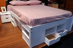 cama gavetas branca