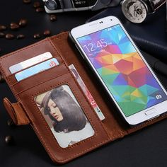 High Quality Luxury Fashion PU Leather Flip Mobile Phone Case For Samsung Galaxy S6 G9200 Wallet Holster Cover Bag For Galaxy S6