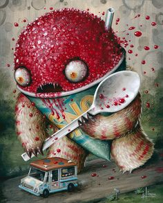 POW Cryptidbit No.3 (Abominable Snowcone), www.limon-art.com