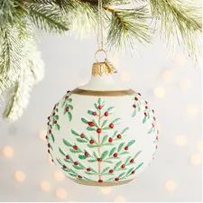 Our Olde World glass ball ornament featuring glitter embellishments is handblown and hand-painted in Romania. Painted Christmas Ornaments, Hand Painted Ornaments, Christmas Decorations, Handmade Ornaments, Christmas Baubles, Christmas Art, Handmade Christmas, Christmas Mandala, Glass Ball