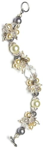 Share your favorite products on Pinterest and receive a 5 dollars off a 50 dollar order coupon! (Minimum $50 order after volume discount) Pearl and Crystal Cluster Bracelet | Free Jewelry Patterns | Prima Bead