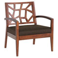 Found it at Wayfair - Jennifer Arm Chair in Walnut & Dark Brown