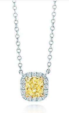 Tiffany Sola  yellow diamond pendant