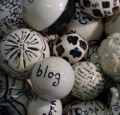 "blog  ( I own some of these too... including the flower one to the left of the ""blog"".  LOVE them!) Palace, Balls, Pottery, My Favorite Things, Amazing, Artist, Flowers, How To Make, Ceramica"