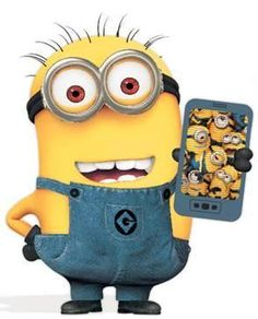 Minion playing the new Minion Rush app. it's a spin off of Subway Surfers.