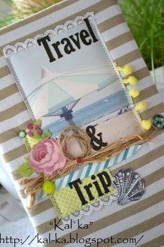 *Скраповый мир*: МК холдер для путешественника от дизайнера Катя (Kal`ka)