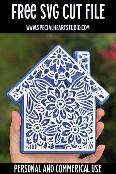 Cricut Svg Files Free, Free Svg Cut Files, Cricut Cuttlebug, Cricut Cards, 3d Cuts, Housewarming Card, New Home Cards, 3d Christmas, Xmas
