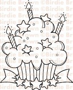 Cupcakes, sorvetes e bolos (Cupcakes, ice creams and cakes) Coloring Book Pages, Coloring Sheets, Baby Set, Art Mural, Digi Stamps, Printable Coloring, Easy Drawings, Doodle Art, Embroidery Patterns