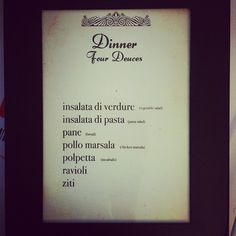 dinner menu from my 1920s speakeasy murder mystery birthday bash!