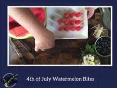 Watermelon Slicer 4th of July Bites