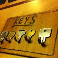 Happy Earth Day - re-purpose keys as hooks