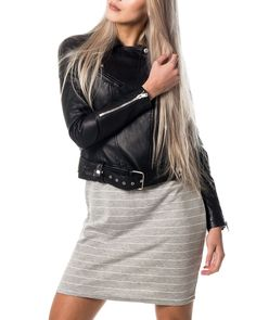 Monna Short PU Jacket Black Beauty