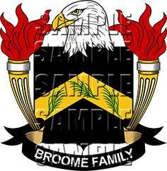 Broome Family Crest apparel, Broome Coat of Arms gifts