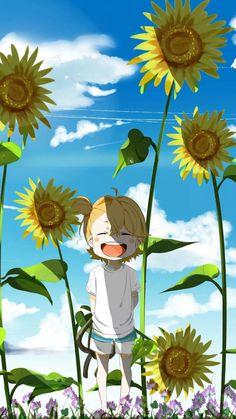 My lovely daughter 😊 Manga Anime, Anime Chibi, Anime Art, Cute Anime Boy, Kawaii Anime Girl, Anime Guys, Anime Flower, Barakamon, Anime Life