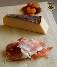 Balsamic BellaVitano® with prosciutto and dried apricots