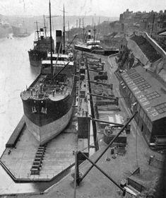Pontoon Dock Sunderland 1903