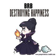 BRB destroying happiness by pompeii-ablaze.deviantart.com on @DeviantArt