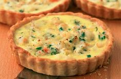 Fish and prawns seafood tartlets recipe - goodtoknow Quiche Recipes, Tart Recipes, Good Food, Yummy Food, Tasty, Awesome Food, Healthy Food, Pressure Oven, Posh Nosh