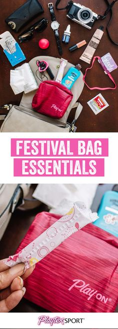 Outdoor summer concerts are right around the corner! Make sure you have everything you need to rock out with confidence by getting packing inspiration from this What's in My Purse: Music Festival Edition. You can pick up everything you need for the best concert experience from Target—from unique sunglasses and sunscreen, to a portable charger and Playtex® Sport® Compact®!