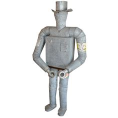 Iconic Life Size American Tin Man Trade Sign | From a unique collection of antique and modern signs at http://www.1stdibs.com/furniture/folk-art/signs/