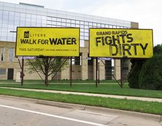 20 Liters Walk For Water Billboards created by Extra Credit Projects. 20 Liters, Water Fight, Extra Credit, Billboard, Park, Projects, Log Projects, Signage, Parks