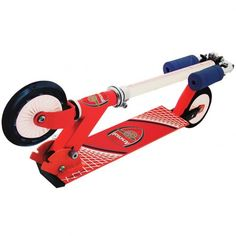 - lightweight in line scooter - fold down frame - rear action foot brake - in gift box - official licensed product Uk Football, Football Cards, Arsenal Fc, Online Sports Store, Football Accessories, Card Factory, Football Memorabilia, Golf Stores, English Premier League
