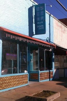Craving Mediterranean food? Check out Blue Door Cafe! Location: 219 N. Travis St. Hours:  M-Th.- 11am-9pm and F-Sat.- 11am-10pm