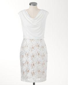 Shimmery soutache dress
