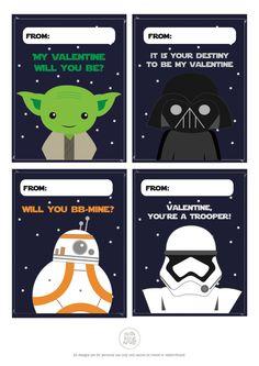 Printable Star Wars Valentine Cards // Digital // by sofakingartsy