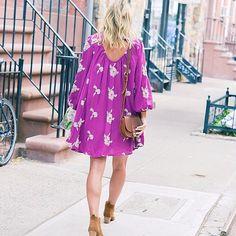 Take a walk on the free-spirited side in @amanda_holstein's billowy floral print dress | Get ready-to-shop details with www.LIKEtoKNOW.it | http://liketoknow.it/1x904 #liketkit