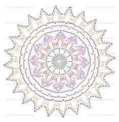 Mandala patron We are want to say thanks if you like to sh Motif Mandala Crochet, Crochet Mandala Pattern, Crochet Circles, Granny Square Crochet Pattern, Crochet Flower Patterns, Crochet Diagram, Crochet Chart, Thread Crochet, Filet Crochet