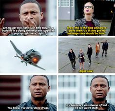 My note: single was my favorite in the mashup episodes lol Team Arrow in #TheFlash #3x08 - Crossover Part 1!