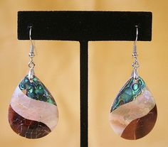 Canyon Stream  Ocean Abalone Earring on Sterling by 5thAveDesigns,