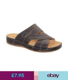 3ee000903943 Boots Mens Brown Summer Casual Beach Mules Homes Garden Shower Flip Flops  Slippers Sz  ebay