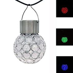 Buy TRIEtree Solar Hanging Ball Lights, Outdoor Garden Hanging Decorative Light, Auto Color Changing LED Ball Lantern Landscape Lighting for Garden Patio Yard Window, Pack of 3 Landscape Lighting, Outdoor Lighting, Path Lights, Led Lamp, Lamps, Color Changing Led, Light Decorations, Color Change, Lanterns