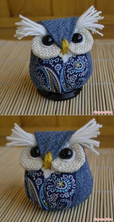 owl crafts for preschoolers . owl crafts for kids . owl crafts for adults . owl crafts for toddlers . owl crafts for kids to make . Owl Crafts, Diy And Crafts, Arts And Crafts, Owl Patterns, Sewing Patterns, Fabric Crafts, Sewing Crafts, Artisanats Denim, Peso De Porta