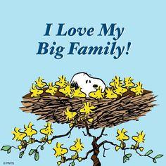 "PEANUTS on Twitter: ""I love my big family!"